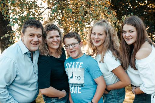 Martin Keller mit Familie